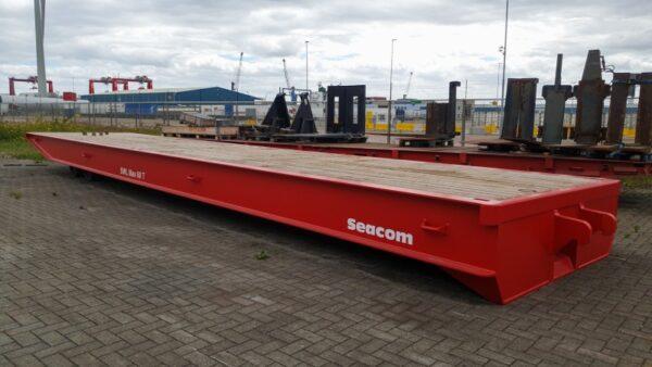 Flatbed trailer seacom rt40 SOB2304 1